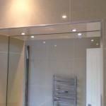 Bathroom mirror LED spots